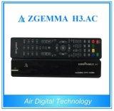 Casella multimedia Zgemma H3 del giocatore. Sintonizzatori di OS Enigma2 DVB-S2+ATSC di Linux della ricevente satellite di CA