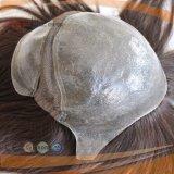 V Schleifen-voller Hauptüberzogener Polytyp 100% menschliche Jungfrau-kurzes Haar-Frauen-Perücke