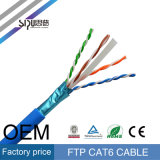 Sipu RoHS Fluke Prueba 4pair cobre CAT6 FTP Cable de red