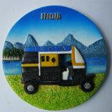 Ímã de refrigerador indiano de resina em forma de copo de boa qualidade para Deco
