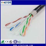 Cable al aire libre protegido ULTRAVIOLETA de la red de Ethernet 23AWG del gato 6 de la prueba UTP del agua