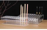 Alto soporte de visualización de acrílico transparente de la pluma