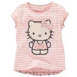 女の子の子供の子供によって印刷される綿のTシャツ