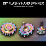 Unruhe-Spielzeug-Regenbogen-auffälliger Handspinner des Metallunruhe-Spinner-DIY