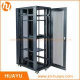 Temperatura constante estante del servidor de 19 pulgadas en color anaranjado con la cabina perforada expresada doble del acoplamiento de la puerta trasera
