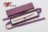 紫色のボール紙のペーパー二重リングボックス