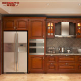 Armadio da cucina di legno solido moderno della pittura della mobilia della cucina (GSP5-049)