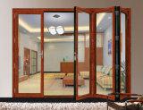 Portello di piegatura di alluminio di vetro Tempered della rottura termica di buona qualità di Woodwin