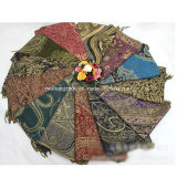 Nationale Art gesponnener Goldform-Schal langer Pashmina Schal