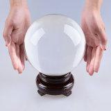 Bola de gran tamaño del color del claro del vidrio cristalino de 120m m 130m m
