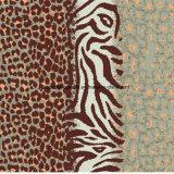 a cópia Pigment&Disperse do leopardo da zebra 100%Polyester imprimiu a tela para o jogo do fundamento