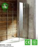 Vidro de alumínio do frame feito no cerco deslizante do chuveiro de China