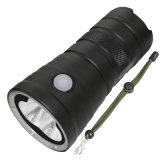 Tactical High Quality Camping Long Distance 7600 Lumens 5 Mode Ipx-8 Lanterna impermeável Tocha resistente ao impacto