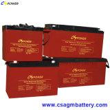 Batterie solaire de gel de couleur rouge avec la vie de modèle 20years (HTL12-100)
