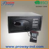 Ceu 오프닝 기록 독자 기능, 단단한 강철 건축 및 디지털 전자 자물쇠를 가진 휴대용 퍼스널 컴퓨터 크기 호텔 안전
