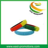 Pulseira de silicone promocional personalizada sob medida de silicone