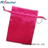 Горячий красный сатинировочный сумка для ювелирных подарков