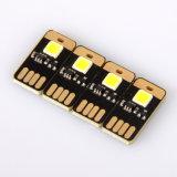 Super heller 1 LED-warmer weißer Farben-Doppelt-Noten-Schalter-mini im Taschenformattastatur-Lampe USB 5V beleuchtet Energien-Bank-Adapter bedientes Tisch-Licht