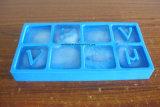 Lebensmittelsicherheit-Grad-unzerbrechlicher Alphabet-Zeichen-Form-Silikon-Eis-Hersteller, Silikon-Eis-Würfel-Tellersegment