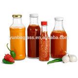 la bottiglia della salsa di peperoncino rosso caldo 5oz con la vite può ed inserto di plastica