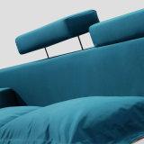 침실 사용 (FB8001)를 위한 파란 색깔 직물 연약한 침대