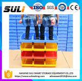 Caixa plástica Stackable de escaninhos de armazenamento do armazém industrial