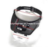 手は2枚のLEDライトおよび4レンズが付いているヘッドヘッドバンドのヘルメットの拡大鏡ガラスルーペヘッド拡大鏡を放す