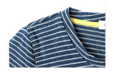 T-shirt rayé bleu et blanc de mode de coton de garçons de vêtements pour l'été