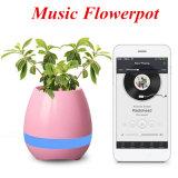 Altavoz de Bluetooth con el piano elegante inteligente de la planta de la maceta de la música del tacto del LED BT que juega el canto sin hilos K3