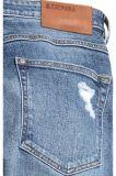 Dünne niedrige Trashed Jeans