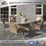 Goed Furnir Terras 6 Wapen Seater om het Dineren van de Rotan Reeks met Kussen