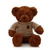 Urso da peluche do luxuoso das horas de dormir com roupa