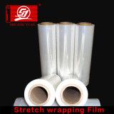 Película de estiramento transparente ultra fina do envoltório da mão de LLDPE 18 polegadas