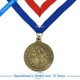 Médaille estampée d'honneur en métal de sport pour le souvenir