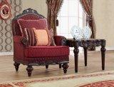ホーム家具のための木フレームとセットされる古典的なファブリックソファーの骨董品愛シートの椅子の古典的な表