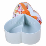 Blumen, die Goldfolien-weißer Zoll gedruckten Hut-Kasten verpacken