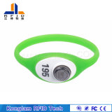 Bracelet flexible personnalisé de silicones d'IDENTIFICATION RF pour des billets de parc d'attractions