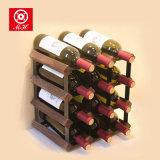 Vormontierter eindeutiges Speicherhölzerner 9 Flaschen-Bildschirmanzeige-Wein-Zahnstangen-Halter