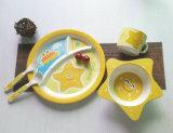 Insieme di bambù del piatto dei bambini degli articoli per la tavola