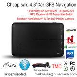 """Navigatore portatile di GPS dell'automobile del in-Precipitare di vendita calda 4.3 della fabbrica """" con la corteccia A7, 800MHz CPU, programma del braccio di Igo del Preload; Trasmettitore di FM; Bluetooth Handsfree; ISDB T TV"""