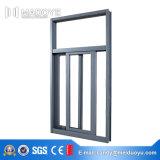 Doppeltes glasig-glänzendes Puder-Beschichtung-schiebendes Aluminiumfenster Forcommercial hergestellt in China