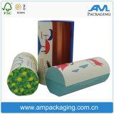 Коробка пробки упаковки подарка бумаги круглой формы прикрепленная на петлях качеством еды для печений с магнитом