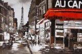 Pittura a olio domestica di arte della decorazione su tela di canapa per la via di Parigi