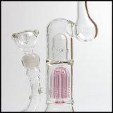 厚いピンクのガラス煙る配水管の水ぎせるの手によって吹かれる陶酔するようなタバコのバブラーの卸売Facotry
