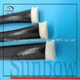8mmの黒い拡張可能編みこみのシリコーンゴムガラスケーブルの袖