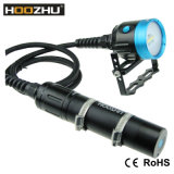 A luz 4000 máximos Lm do mergulho de Hoozhu Hv33 Waterproof 120m com luz clara do vídeo do mergulho de quatro cores