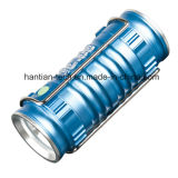 高品質の青いカラーアルミニウム釣LED懐中電燈