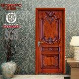 ヨーロッパの骨董品によって切り分けられる純木の内部ドア(GSP2-024)
