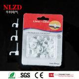 Colliers de câbles carrés en plastique d'aperçus gratuits avec le clou