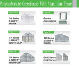폴리탄산염 장 알루미늄 프레임 꽃 시스템을%s 작은 정원 온실